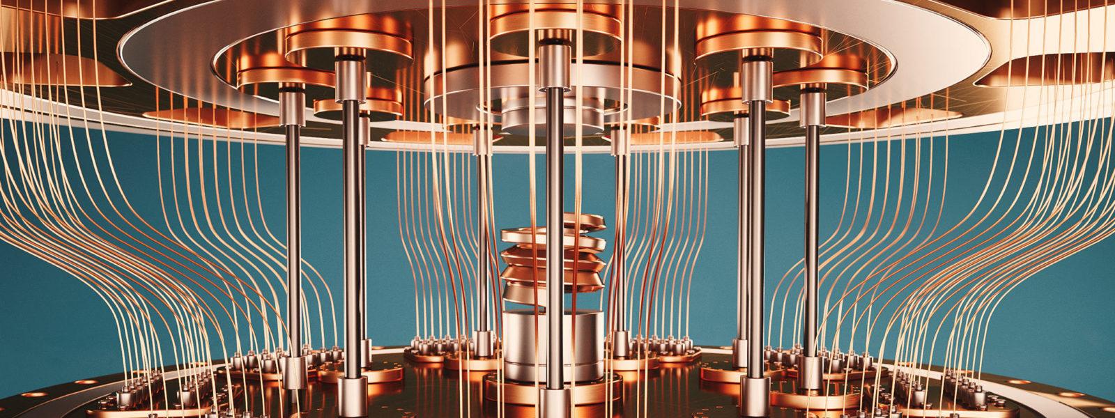 quantum computer closeup