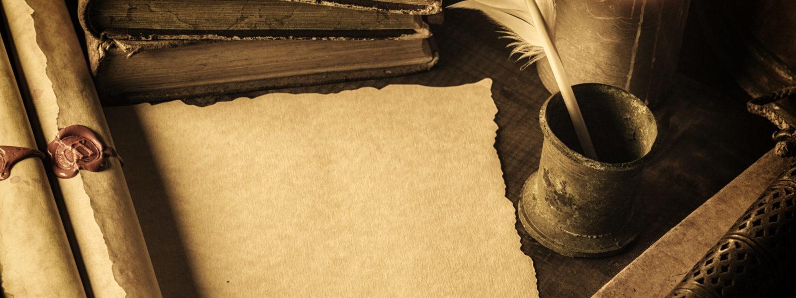 Blank parchment
